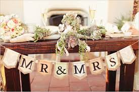 mr mrs wedding table decorations banner or name plaques on the front of the table since that will be