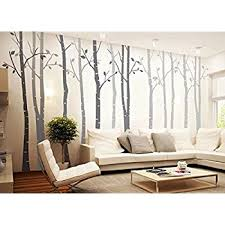 large wall vinyl tree forest decal removable sticker with birds 96
