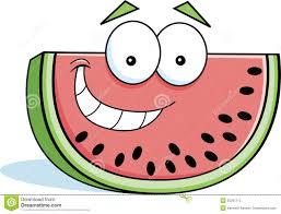 cartoon watermelon emojis with emotion stock vector image 94827472