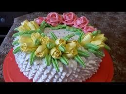 торт с цветами рецепт бисквитный торт суфле украшаем торт белково