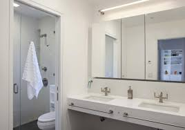 interior bright ideas showcasing modern house bathroom full size interior details bathroom white sinks wide mirrors glass shower towel faucet sling toilet