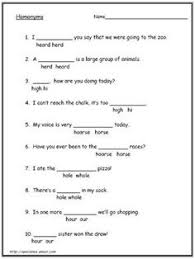 circling homophones worksheet part 1 worksheets pinterest