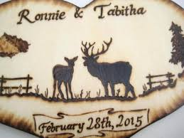 buck and doe cake topper deer wedding cake topper buck and doe with mountains tree and