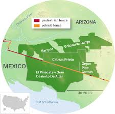 Map Of Arizona And New Mexico by The Ecological Disaster That Is Trump U0027s Border Wall A Visual