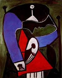 An Armchair Woman Sitting In An Armchair 1948 Pablo Picasso Wikiart Org