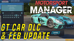 game design your own car motorsport manager gt car dlc create your own team update youtube