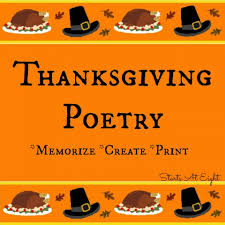 thanksgiving poetry memorize create print startsateight