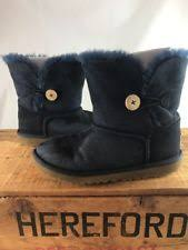 s ugg australia mini leather boots navy blue uggs clothing shoes accessories ebay