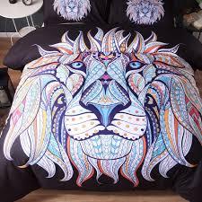 online shop cilected black lion printing duvet cover set 3pcs