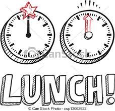 vector illustration of lunch time sketch doodle style lunch