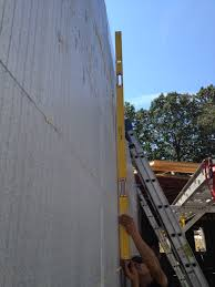 placing concrete in our icf foundation walls
