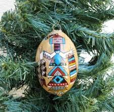 native american painted christmas ornaments 3 set o1 painted