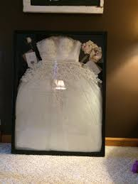 wedding dress in a shadow box get the largest one from hobby lobby