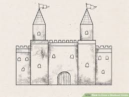 how to draw a medieval castle 9 steps with pictures wikihow