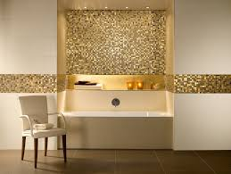 magnificent gold mosaic tiles for amazing bathroom decorating