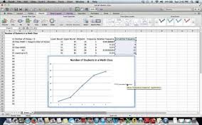 cara membuat grafik integral di excel how to create an ogive cumulative frequency graph using microsoft