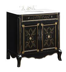 20 Inch Bathroom Vanity by 32 5 Inch Bathroom Vanity Floral Hand Painted Black Gold 32 5
