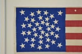 1876 American Flag 39 Star Antique Flag With Rare Star Arrangement Sku 8779 Sold