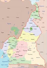 map of cameroon cameroon political map mapsof