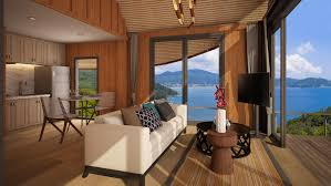 sea view living room naka bay sea view cottages phuket holiday services