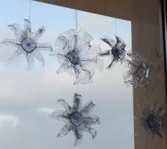fab mums from plastic bottles to snowflake ornaments