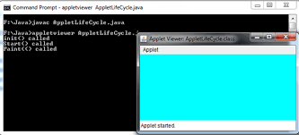 applet life cycle in java with example