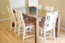 farmhouse dining room table and chairs sew much ado
