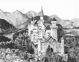 my 2nd ink drawing castle in bavaria archive wetcanvas