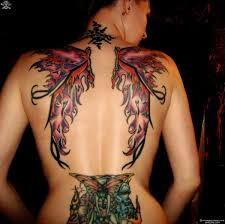 collection of 25 wings tattoos on back