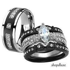 black wedding sets sets bridal diamond rings diamond engagement anniversary rings