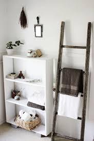 Bathroom Wall Shelves Bathroom White Wooden Ladder Bathroom Ladder Shelf Wall Storage