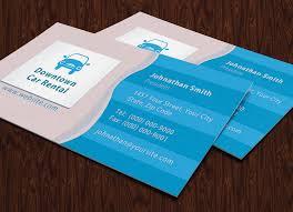 car rental business card free psd templates idolza