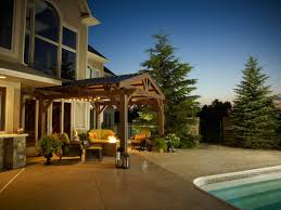 Pergola With Fire Pit by Optional Metal Roof Lodge Pergola