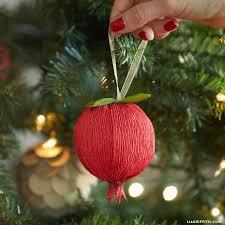 crepe paper pomegranate ornaments lia griffith