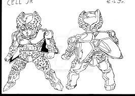 cell jr dragon ball drawing amazed22 deviantart