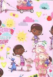doc mcstuffins wrapping paper official doc mcstuffin 2 sheets of gift wrapping paper 2 gift