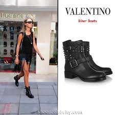 biker type boots valentino biker boots celebrity shoes
