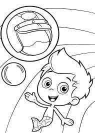 gil awesome helmet bubble guppies coloring gil