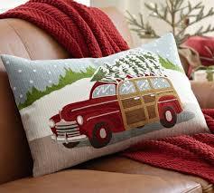 Pottery Barn Lumbar Pillow Covers 222 Best Christmas Pillows Images On Pinterest Christmas Pillow