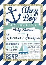 Baby Shower Invite Boy Nautical Theme Baby Shower Invitation Template Free Sample Themes