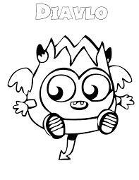 moshi monsters u2013 diavlo coloring u0026 coloring pages