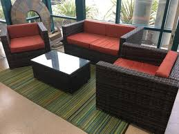 Discount Wicker Patio Furniture Sets Santa Cruz Sunbrella Outdoor Wicker Patio Furniture Set U2013 San