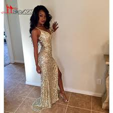 Gold Glitter Prom Dresses Best Dressed