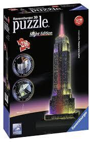 Empire State Building Halloween Light Show Amazon Com Ravensburger Empire State Building Night Edition
