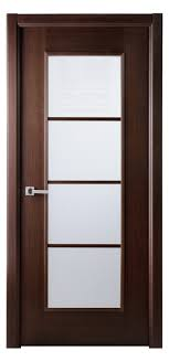 wenge frosted center glass wood modern interior door in a wenge finish wood veneer
