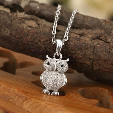 owl pendant necklace silver images 925 sterling silver owl pendant necklace nicest deals jpg