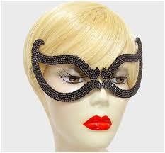 halloween crystal ball with head bijou romantic cat eye black crystal masquerade mask u2013 beloved