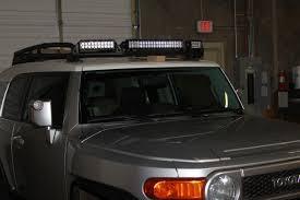 roof rack emergency light bar rigid industries fj cruiser oe factory roof rack light bar special