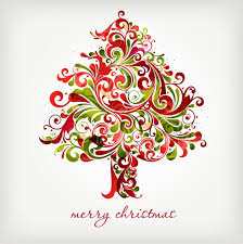 swirl christmas tree clipart 1877389