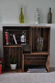 Wooden Crate Shelf Diy by How To Make A Bookshelf Crates Apartments And Wooden Crates